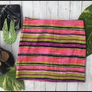 Fabulous Ann Taylor Multi Color Stripe Skirt NWOT